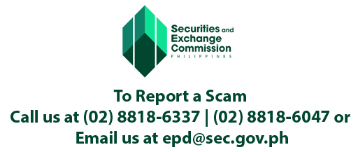 Report a Scam, Securtities and Exchange Commission, Beware to Scams, Say no to scams,